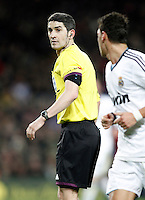 Spanish referee Alberto Undiano Mallenco during Copa del Rey - King's Cup semifinal second match.February 26,2013. (ALTERPHOTOS/Acero) /NortePhoto