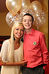 David McCluskey with his girlfriend Amy Bermingham at his 21st in The Star and Crescent...Picture Jenny Matthews/Newsfile.ie