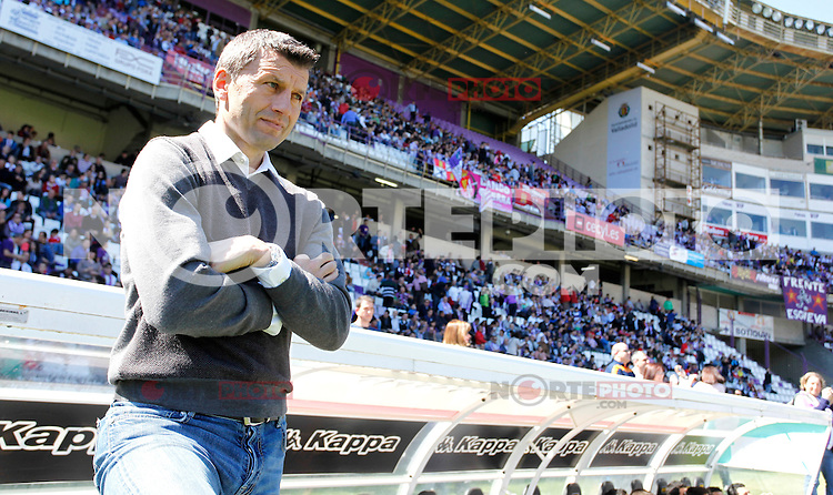 Real Valladolid´s coach Miroslav Djukic V Getafe match during La Liga 2012-13. April 13, 2013 (Victor J Blanco/Alterphotos)