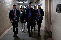 Representative Steve Stivers, Republican of Ohio, talks to a reporters following a meeting of United States House of Representatives Republican members in the basement of the United States Capitol Building on June 7, 2018 in Washington, DC. The Republican members are discussing immigration policy changes. <br /> CAP/MPI/RS<br /> &copy;RS/MPI/Capital Pictures