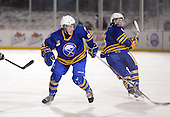 Buffalo Junior Sabres forward Nolan Sheeran (81) during a game against the St. Michaels Buzzers at the Frozen Frontier outdoor game at Frontier Field on December 15, 2013 in Rochester, New York.  St. Michael's defeated Buffalo 5-4.  (Copyright Mike Janes Photography)