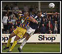 31/8/02       Collect Pic : James Stewart                     .File Name : stewart-falkirk v qots 18.DEREK ANDERSON AND LEE MILLER CHALLENGE FOR THE BALL.....James Stewart Photo Agency, 19 Carronlea Drive, Falkirk. FK2 8DN      Vat Reg No. 607 6932 25.Office : +44 (0)1324 570906     .Mobile : + 44 (0)7721 416997.Fax     :  +44 (0)1324 570906.E-mail : jim@jspa.co.uk.If you require further information then contact Jim Stewart on any of the numbers above.........