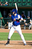 Brian Wolfe (30) of the Ogden Raptors at bat against the Grand Junction Rockies on June 19, 2014 at Lindquist Field in Ogden, Utah. (Stephen Smith/Four Seam Images)