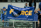 9th September 2017, nib Stadium, Perth, Australia; Supersport Rugby Championship, Australia versus South Africa; Western Force supporters display a banner after the game