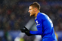 9th November 2019; King Power Stadium, Leicester, Midlands, England; English Premier League Football, Leicester City versus Arsenal; Jamie Vardy of Leicester City - Strictly Editorial Use Only. No use with unauthorized audio, video, data, fixture lists, club/league logos or 'live' services. Online in-match use limited to 120 images, no video emulation. No use in betting, games or single club/league/player publications