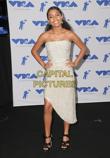 27 August  2017 - Los Angeles, California - Yara Shahidi. 2017 MTV Video Music Awards - Press Room, held at The Forum in Los Angeles. <br /> CAP/ADM/BT<br /> &copy;BT/ADM/Capital Pictures