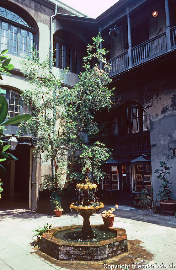 New Orleans:  500 block, Royal St. --interior court.