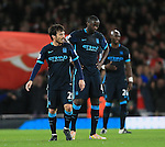 Manchester City's David Silva and Yaya Toure look on dejected after going 1-0 down<br /> <br /> Barclays Premier League- Arsenal vs Manchester City - Emirates Stadium - England - 21st December 2015 - Picture David Klein/Sportimage