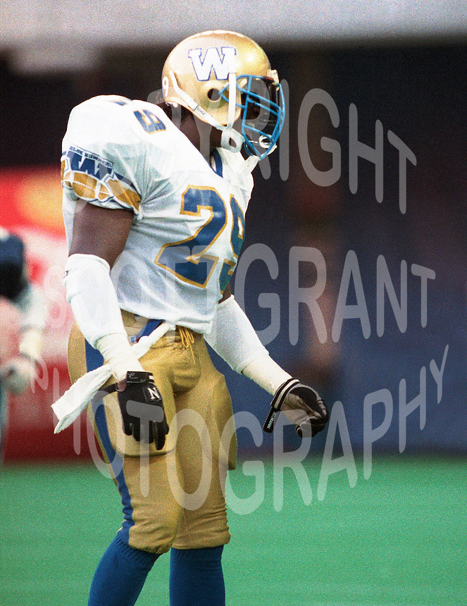 David Bovell Winnipeg Blue Bombers 1992. Photo: F. Scott Grant