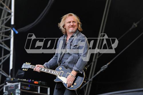 THUNDER - guitarist Luke Morley - performing live n Day Two of the Ramblin' Man Fair at Mote Park Maidstone Kent UK - 24 Jul 2016.  Photo credit: Zaine Lewis/IconicPix