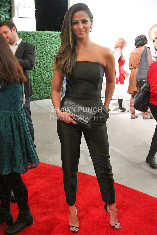 Camila Alves attends the Annie For Target collection celebration and pop-up shop at Stage 37 in New York City on November 4, 2014.