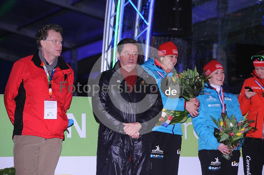 SCHAATSEN: AMSTERDAM: Olympisch Stadion, 01-03-2014, KPN NK Sprint/Allround, Coolste Baan van Nederland, Ottavio Chinquanta (ISU president), ©foto Martin de Jong