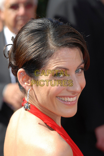 LISA EDELSTEIN.59th Annual Primetime Emmy Awards held at the Shrine Auditorium, Los Angeles, California, USA..September 16th, 2007.headshot portrait looking over shoulder .CAP/ADM/CH.©Charles Harris/AdMedia/Capital Pictures.
