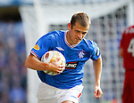 Jerome Rothen full of drive and runs to place the ball for a corner
