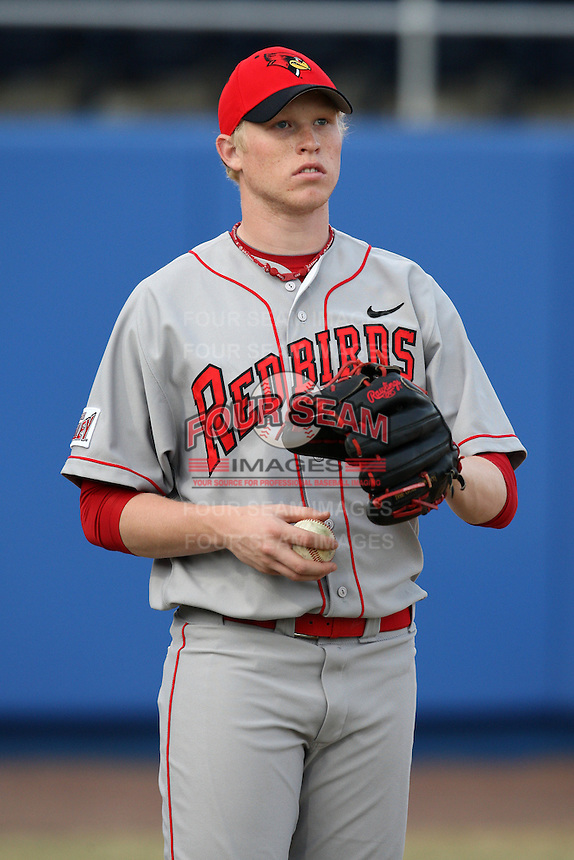 March 9, 2010:  J.D. Learnard of the Illinois State Redbirds during a game at McKethan Stadium in Gainesville, FL.  Photo By Mike Janes/Four Seam Images