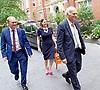 Liberal Democrat Leadership press conference. <br /> <br /> <br /> <br /> Tim Farron - outgoing leader <br /> <br /> Jo Swinson - deputy leader <br /> <br /> Vince Cable - new leader <br /> <br /> <br /> 20th July 2017 <br /> <br /> at The St Ermin&rsquo;s Hotel, London. Great Britain <br /> &nbsp;<br /> <br /> <br /> Photograph by Elliott Franks <br /> Image licensed to Elliott Franks Photography Services