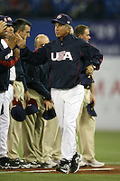 March 7, 2009:  Manager Davey Johnson of Team USA during the first round of the World Baseball Classic at the Rogers Centre in Toronto, Ontario, Canada.  Team USA defeated Canada 6-5 in both teams opening game of the tournament.  Photo by:  Mike Janes/Four Seam Images