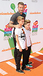 David Beckham and sons arriving at the Nickelodeon's Kids Choice Sports Awards 2014 held at The UCLA Pauley Pavilion Los Angeles, CA. July 17, 2014.