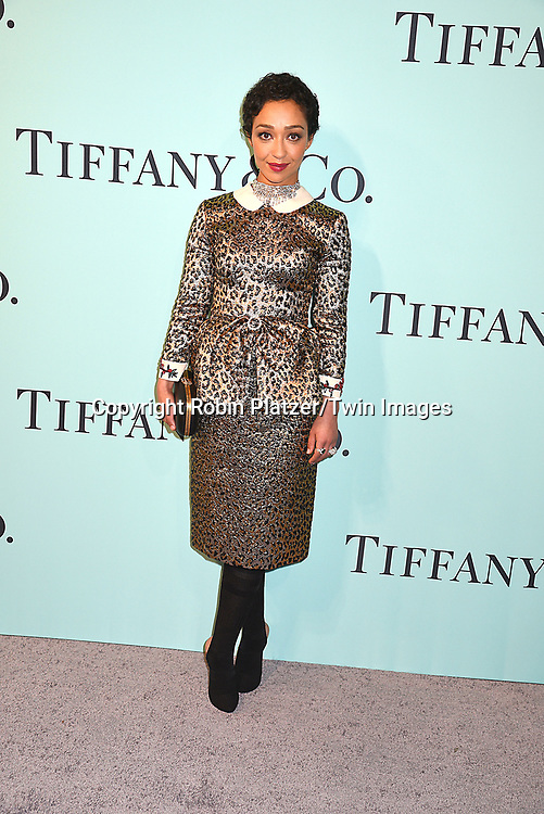 Ruth Negga attends the Tiffany &amp; Co 2017 Blue Book Collection on April 21, 2017 at St Ann's Warehouse in Brooklyn, New York, USA.<br /> <br /> photo by Robin Platzer/Twin Images<br />  <br /> phone number 212-935-0770