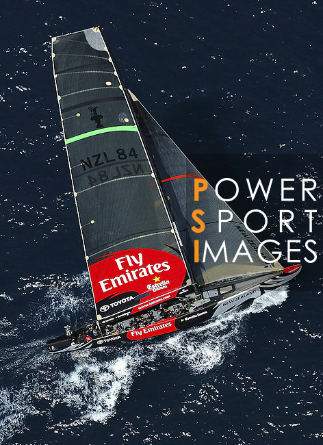 19 May 2006, Valencia, Spain --- America's Cup challenger Emirates Team New Zealand races upwind on the first flight of their fleet race during the first day of the Valencia Louis Vuitton Act 11 in Valencia, eastern Spain. Photo by Victor Fraile / The Power of Sport Images