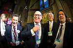 © Joel Goodman - 07973 332324 . 24/06/2016 . Manchester , UK . UKIP deputy leader PAUL NUTTALL celebrates at the declaration in the EU referendum at Manchester Town Hall after it is projected that LEAVE will win . Photo credit : Joel Goodman