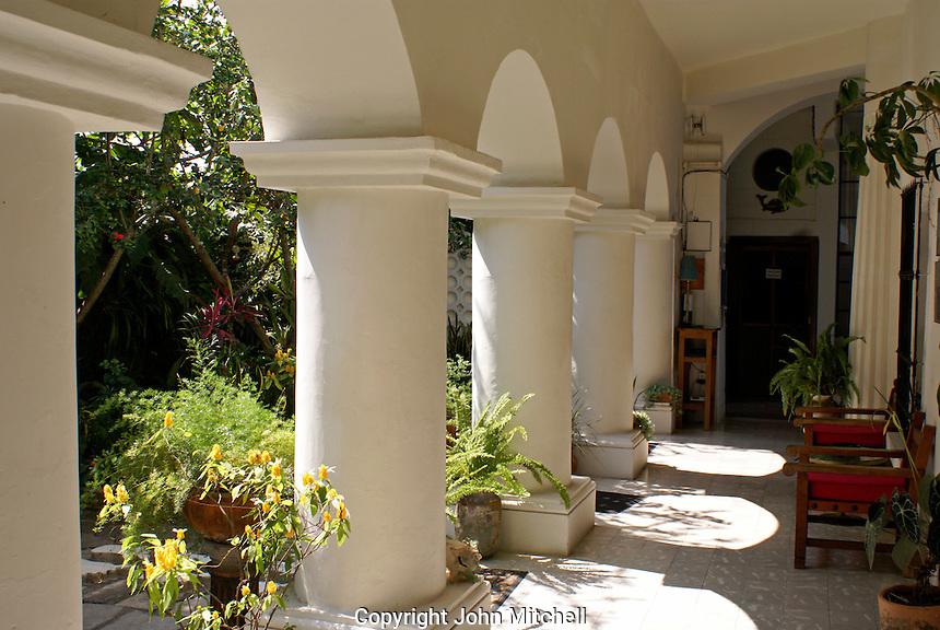 Arches at the Posada El Castillo, former home of Edward James in Xilitla, San Luis Potosi state, Mexico