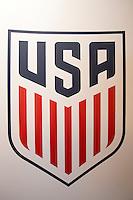 Orlando, FL - Friday Oct. 14, 2016:   US Soccer coaching logo during a US Soccer Coaching Clinic in Orlando, Florida.