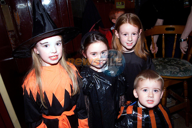 Samantha Bagnall, Michaela Flood, Stephanie Flood and Shauna Flood at the Halloween party in the Marsh House..Picture: Paul Mohan/Newsfile