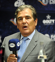 BOGOTÁ - COLOMBIA, 10-01–2019: Jorge Luis Pinto, técnico de Millonarios, durante rueda de prensa del Torneo Fox Sports 2019, en el estadio Nemesio Camacho El Campin de la ciudad de Bogotá. / Jorge Luis Pinto, Coach of Millonarios, during a press conference at the Fox Sports 2019 Tournament, at the Nemesio Camacho El Campin stadium in the city of Bogota. Photo: VizzorImage / Luis Ramírez / Staff.