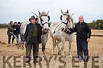 Moss Trant and Jimmy Dennehy  with Narrie and  Millie  at the Abbeydorney Ploughing Match at Corridan's Farm, Ballysheen on Monday