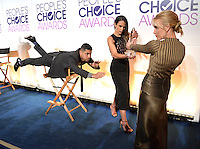 LOS ANGELES, CA. November 15, 2016: Actors Wilmer Valderrama, Jordana Brewster &amp; Piper Perabo take part in the Mannequin Challenge at the Nominations Announcement for the 2017 People's Choice Awards at the Paley Center for Media, Beverly Hills.<br /> Picture: Paul Smith/Featureflash/SilverHub 0208 004 5359/ 07711 972644 Editors@silverhubmedia.com