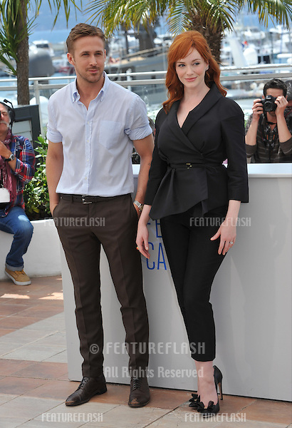 Ryan Gosling &amp; Christina Hendricks at the photocall for their movie &quot;Lost River&quot; at the 67th Festival de Cannes.<br /> May 20, 2014  Cannes, France<br /> Picture: Paul Smith / Featureflash