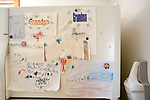 Child's refrigerator door art