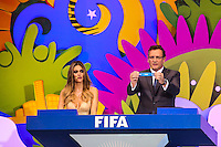 COSTA DO SAUIPE, BA, 06.12.2013 - COPA 2014 - SORTEIO FINAL DA COPA DO MUNDO 2014 - Fernanda Lima e Jerome Walcke durante o sorteio Final da Copa do Mundo de 2014 na Costa do Sauipe litoral norte da Bahia, nesta sexta-feira, 06. (Foto: William Volcov / Brazil Photo Press).