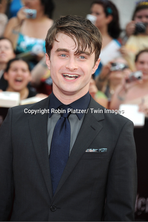 "Daniel Radcliffe arriving to the"" Harry Potter and the Deathly Hallows- Part 2""  North American Premiere on July 11, 2011 at Avery Fisher Hall in Lincoln Center in New York City."