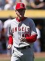 Ron Roenicke, of the Los Angeles Angels, during their game against the Oakland A's on April 16, 2005...A's win 1-0..Rob Holt / SportPics.