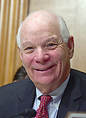 United States Senator Ben Cardin (Democrat of Maryland) awaits the start of the hearing before the US Senate Committee on Finance considering the nomination of US Representative Tom Price (Republican of Georgia) to be Secretary of Health and Human Services on Capitol Hill in Washington, DC on Tuesday, January 24, 2017.<br /> Credit: Ron Sachs / CNP
