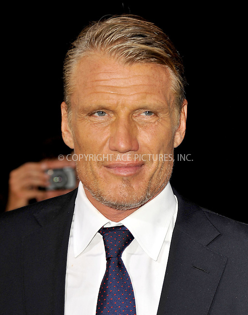 WWW.ACEPIXS.COM......August 15, 2012, Los Angels, CA.......Dolph Lundgren arriving at the Los Angeles Premiere of 'The Expendables 2' on August 15, 2012 in Hollywood, CA.......By Line: Peter West/ACE Pictures....ACE Pictures, Inc..Tel: 646 769 0430..Email: info@acepixs.com