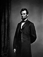 President Abraham Lincoln, 1864.  Mathew Brady Collection. (Army)<br /> Exact Date Shot Unknown
