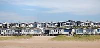 Nederland IJmuiden 2019. Strandhuisjes in IJmuiden.  Foto Berlinda van Dam / Hollandse Hoogte