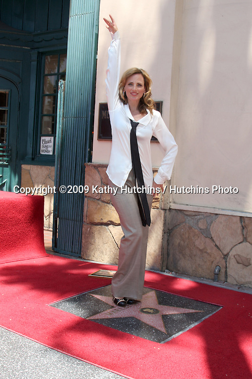 Marlee Matlin   attending the Hollywood Walk of Fame Ceremony for Marlee Matlin on Hollywood Boulevard in Los Angeles, CA  on May 6, 2009.©2009 Kathy Hutchins / Hutchins Photo....                .