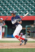 Mendy Ferreira (8) at bat during the Dominican Prospect League Elite Underclass International Series, powered by Baseball Factory, on July 31, 2017 at Silver Cross Field in Joliet, Illinois.  (Mike Janes/Four Seam Images)