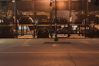 Vertical Parking Lot at Night in Lower Manhattan, New York City, New York State, USA