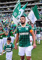 CALI -COLOMBIA-25-09-2016. Andres Perez del Cali ingresa al campo de juego previo al encuentro entre Deportivo Cali y Deportivo Pasto por la fecha 14 de la Liga Águila II 2016 jugado en el estadio Palmaseca de Cali./ Andres Perez goes inside the field prior the match between Deportivo Cali and Deportivo Pasto for the date 14 of the Aguila League II 2016 played at Palmaseca stadium in Cali. Photo: VizzorImage/ NR / Cont