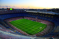 5th November 2019; Camp Nou, Barcelona, Catalonia, Spain; UEFA Champions League Football, Barcelona versus Slavia Prague;  Camp Nou empty before the fans are let in for the game - Editorial Use
