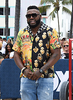 MIAMI BEACH, FL - JANUARY 31: David Ortiz tapes a TV segment at the Fox Sports South Beach studio during Super Bowl LIV week on January 31, 2020 in Miami Beach, Florida. (Photo by Frank Micelotta/Fox Sports/PictureGroup)