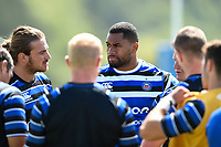 Joe Cokanasiga of Bath Rugby looks on. Bath Rugby pre-season training on August 8, 2018 at Farleigh House in Bath, England. Photo by: Patrick Khachfe / Onside Images