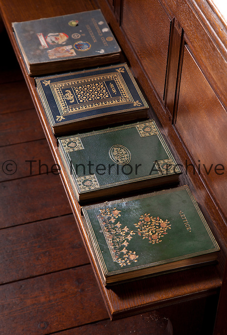 Books belonging to each of the children of the seventh Earl of Beauchamp in the library