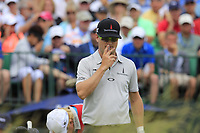 Zach Johnson (USA) on the 1st tee to start his match during Sunday's Final Round of the 117th U.S. Open Championship 2017 held at Erin Hills, Erin, Wisconsin, USA. 18th June 2017.<br /> Picture: Eoin Clarke | Golffile<br /> <br /> <br /> All photos usage must carry mandatory copyright credit (&copy; Golffile | Eoin Clarke)