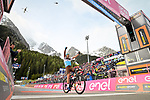 Nans Peters (FRA) AG2R La Mondiale wins solo, his first professional victory, Stage 17 of the 2019 Giro d'Italia, running 181km from Commezzadura (Val di Sole) to Anterselva / Antholz, Italy. 29th May 2019<br /> Picture: Massimo Paolone/LaPresse | Cyclefile<br /> <br /> All photos usage must carry mandatory copyright credit (© Cyclefile | Massimo Paolone/LaPresse)